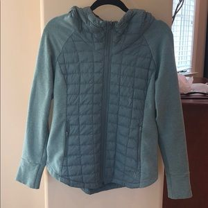 Hooded Green Light North Face Zip Up